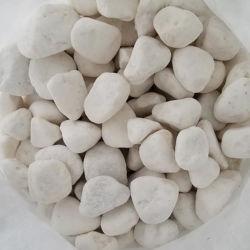 自然な雪の白い小石の石の自然な川の石