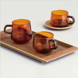 240/270/300/600Sepia color ámbar de la serie ml Vidrio de borosilicato de alta taza/Mug de vidrio