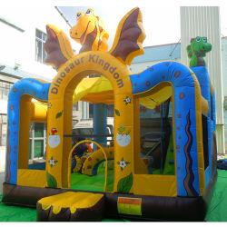 Lustiger aufblasbarer Dinosaurier-Prahler für Verkauf scherzt aufblasbares Geburtstag-Kuchen-springendes Schloss