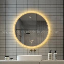 Estrutura preta inteligente Espelho de lâmpadas LED