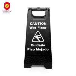 El plástico de la Seguridad Vial suelo mojado señal las señales de precaución negro