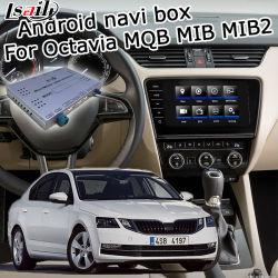 Система навигации GPS для Android Lsailt окно для Skoda Octavia Video Interface Carplay вид сзади Waze Яндекс и т.д.