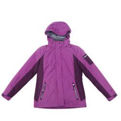 Les femmes veste de mode d'hiver imperméables () enduit PU
