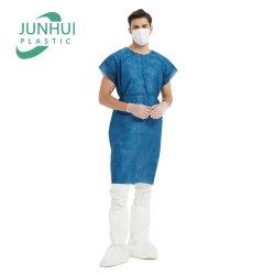 مستشفى مريض غير منسوج لباس قصير قصير قصير SMS PP قبور مريض أزرق داكن