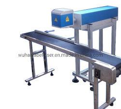 De Vliegende Laser die van Co2 het Online Merken van de Apparatuur van de Gravure van de Machine voor de Fles van het Water merken HDPE/Plastic