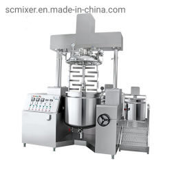 Aço inoxidável 100L máquina de fazer maionese Máquina Homogeneizadora emulsionar a Vácuo