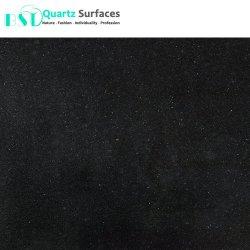 12мм абсолютной черный Crystal искусственного кварца камень
