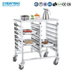 Heavybao melhor qualidade de aço inoxidável Utility Gn Pan Carrinho Alimentar Carrinho de cozinha para uso de hotel