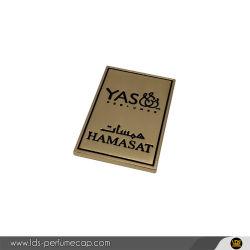 ملصق ملصقات معدنية لزنك أللوي الذهب مخصص لزجاجة العطور