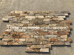 Декоративные гибкие ослабление деревенском Slate каменные стены из шпона оболочка
