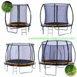 Novo Design Coolmore Eco8/10/12/14ft trampolim com haste metálica para venda