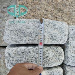 Grauer chinesischer natürlicher Straßenbetoniermaschine-Bordstein-Straßen-Stein-Gehsteig-Bordstein des Granit-G603