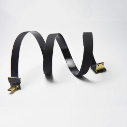 Micro HDMI masculino en ángulo de 90 grados a mini HDMI masculino de 90 grados de Fpv Cable para cámara Sony