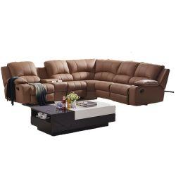 ヨーロッパ式のホームシアターの本革の映画館のリクライニングチェアのソファー