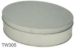 صندوق هدايا معدني بيضاوي الشكل