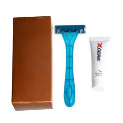 Hôtel kit de rasage du rasoir de rasage en plastique jetables avec crème de rasage