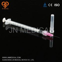 1ml vacina Seringa Luer Slip Luer Lock médico descartável seringa com agulha para adultos eo esterilizadas marcação&ISO