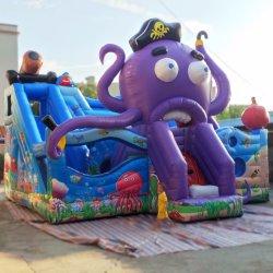 Los niños al aire libre Parque de Atracciones inflables gracioso Pulpo Bouncer deslizar los juguetes