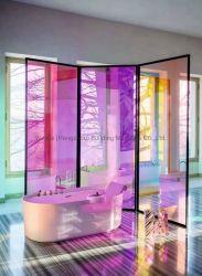 10мм матового декоративные Smart закаленного стекла Dichroic строительный триплекс на стекло двери Balustrade поручни и душем стеклянные двери стекла перегородки Китая на заводе