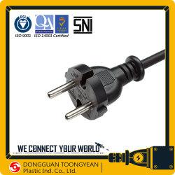 Indonesia aprobación SNI cable de alimentación de CA de 16A 2 pines Tapón de herramienta