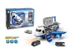 1: aleación de 64 atractivas juguetes con luz y la música de fricción super avión modelo H8215149