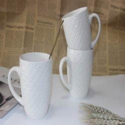 Bon marché de gros du nouvel os de la Chine Hot Sale gaufré de céramique Mugs fabricant en Chine