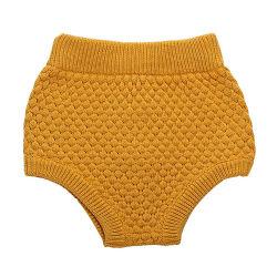 Diseño simple clásico de otoño de algodón tejido Boutique bebé cortos para niños