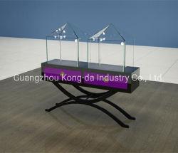Museu elegante design de gabinete de vidro de madeira vitrine para joalharia