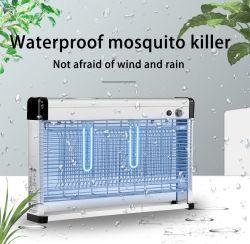 Venta caliente al aire libre jardín de la luz de la trampa de mosquitos repelente de mosquitos electrónica resistente al agua portable el Control de Plagas