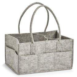 Grs bereitete Filz kundenspezifischen Haupteinteilungs-Kleid-Speicher-Holz-Hilfsmittel-Garn-Beutel auf