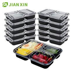 使い捨て可能なプラスチック2 3つのコンパートメントプラスチックテークアウトのBentoのお弁当箱の食糧容器