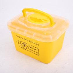 5L Medical Biohazard Contenedor de residuos, la plaza fuerte el recipiente con asa