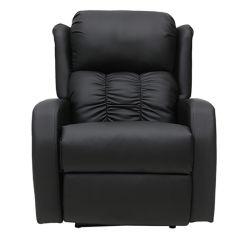 Schwarze PU Leder elektrische Recliner mit 8 Punkt Massage für Wohnzimmer
