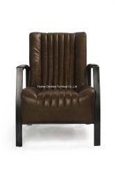 Промышленности Loft утюг металлические стул, Vintage верхней части зернового Кресло из кожи живых мебель