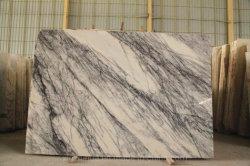 白いライラックパープルベイン大理石 / ストーンスラブフロアタイル暖炉カウンター / トップ