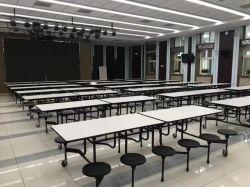 La nuova Tabella pranzante venente della mobilia moderna del ristorante ha impostato con la Tabella pranzante del banco delle otto sedi