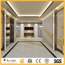 Italiano Natural Ariston mármore branco com veia de ouro para a decoração de paredes/piso