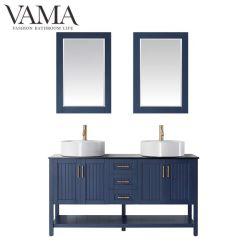 Vama 1500mmフォーシャンの工場青い二重円形の流しの浴室の虚栄心は756060bをセットする