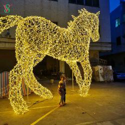 놀이공원을 위한 거대한 LED 3D 말 동물 조각품 조명