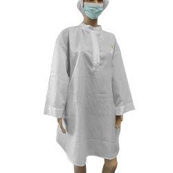 Guter Verkauf fusselfrei 99% Polyester 1% Carbon ESD Antistatische Kleidung für Reinraumkleidung