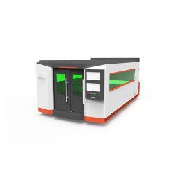 Gesloten Fiber Laser Cutting machine met volledige kap voor 2,5 mm 8mm 10mm Aluminium RVS Schutmetaal met CE
