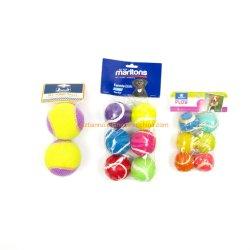 """Яркий цветной индивидуальные 2,5"""" диаметр резиновых Пэт настольный теннис мячи для собак чью игрушка воспроизведения"""