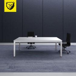 Piccolo tavolo di riunione del metallo 2020 dell'ufficio di legno della melammina