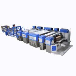 Automatisiertes Flexo Drucken, welches das stempelschneidene faltende Kleben kerbt -- Gewölbter Karton-Kasten, der Maschine herstellt