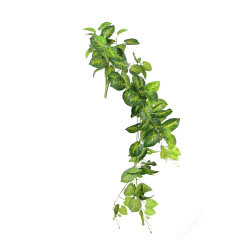 Long Faux Rattan decorativo Hanging foglie verdi piante artificiali