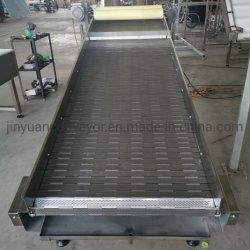 Convoyeur à courroie en acier inoxydable pour le nettoyage, refroidissement et le séchage de la ligne