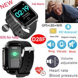 Alarme de l'automne 850mAh Smart montres cadeau Personnes âgées Tracker GPS avec la pression artérielle de la fréquence cardiaque
