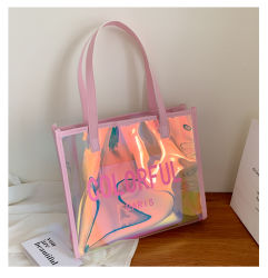 Beach Fashion Borse a spalla colorful regalo Donna Borse donna tote donna Sacchetti in PVC trasparente laser