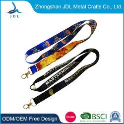 Écran plat &tache en polyester imprimé cordon pour le personnel de support en caoutchouc de combinaison cordon (005)