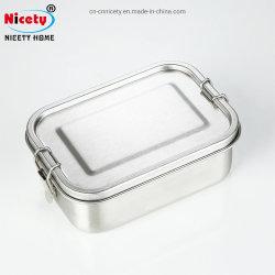 Isulated biologisch abbaubare Tiffin Box auslaufsichere Camping Food Storage Container mit Devider Logo Anpassbare Porzellan Edelstahl Lunch Box